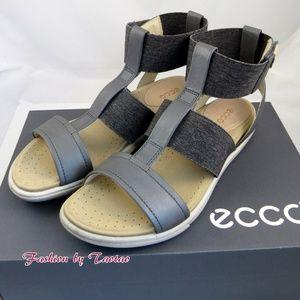 d6cf01f9053 ECCO Shoes - ECCO DAMARA ANKLE STRAP SANDAL DARK SHADOW POWDER